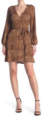 Kenedik Animal Printed Surplice Dress