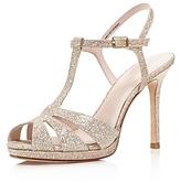 Kate Spade Feodora Glitter T Strap High Heel Sandals