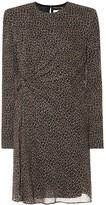 Saint Laurent Leopard virgin wool minidress