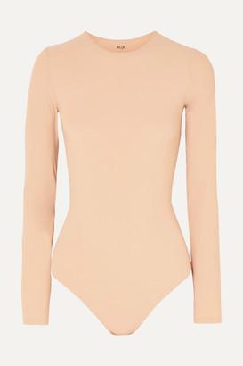 Alix Leroy Stretch-jersey Thong Bodysuit - Sand