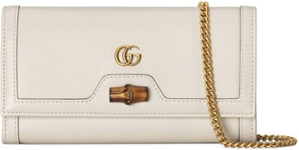 Gucci Diana chain wallet with bamboo