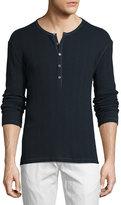 John Varvatos Thermal Henley T-Shirt, Marine