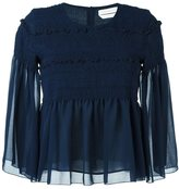 See by Chloe smocked sheer blouse - women - Polyester - 36