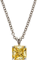 FANTASIA Square Canary CZ Pendant Necklace