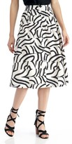 Sole Society Printed Midi Skirt