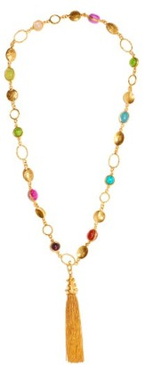 Sylvia Toledano Lee Tasselled Pendant Necklace - Gold Multi