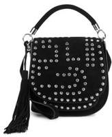 Sam Edelman Heidi Studded Suede Saddle Bag