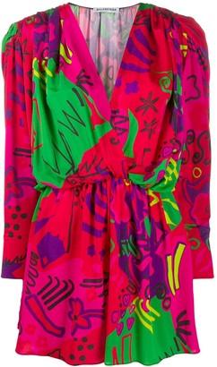 Balenciaga Abstract-Print Mini Dress