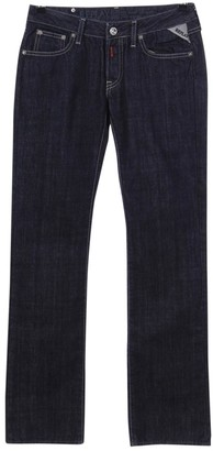 Replay Navy Cotton Jeans for Women