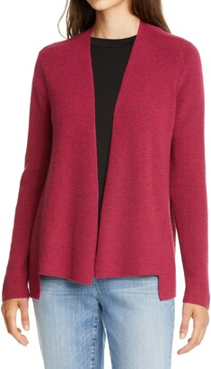 Eileen Fisher Merino Wool Straight Cardigan