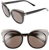 Tory Burch Women's 53Mm Cat Eye Sunglasses - Black
