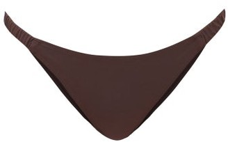 Fisch Corossol High-cut Bikini Briefs - Dark Brown