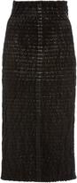 Rosetta Getty Leather Pencil Skirt