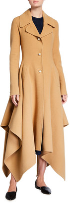 J.W.Anderson Handkerchief Single-Breasted Wool Coat