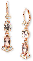 Marchesa Floral Linear Drop Earrings
