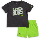 Under Armour Baby Boys Textured Tee and Shorts Set
