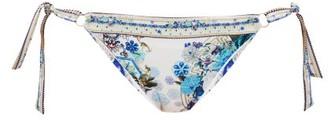 Camilla Side-tie Floral-print Bikini Briefs - White Print