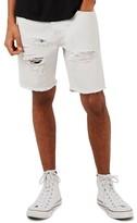 Topman Men's Ripped Slim Fit Denim Shorts