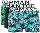 Topman Navy And Green Jungle Trunks 3 Pack*