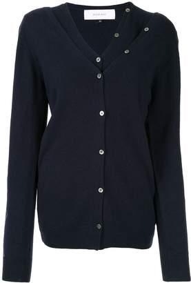 Le Ciel Bleu argyle sleeve layered cardigan