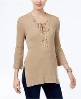 MICHAEL Michael Kors Lace-Up Tunic Sweater