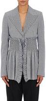 Cédric Charlier Women's Embellished Houndstooth Jacket-BLUE