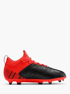 Puma Children's ONE 5.4 Football Boots, Black/NRGY Red/Aged Silver