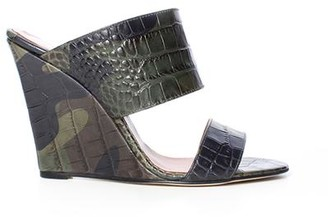 Paris Texas Camouflage Printed Croco Wedge