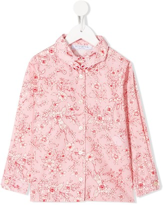 Vivetta Kids Floral Print Hands Collar Shirt