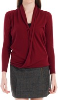 Max Studio Wrap Front Sweater