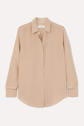 Equipment Essential Silk Crepe De Chine Shirt - Beige