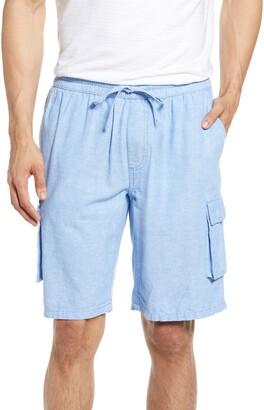Onia Tom Drawstring Linen Blend Cargo Shorts