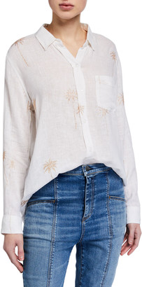 Rails Charli Palm Tee Button-Down Shirt