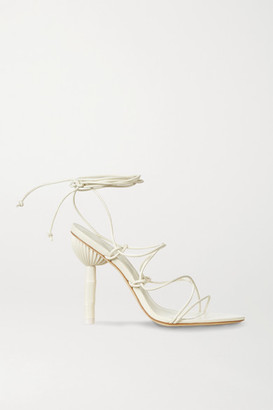 Cult Gaia Soleil Leather Sandals - White