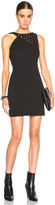 Anthony Vaccarello Strappy Eyelet Mini Dress