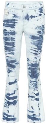 Stella McCartney Tie Dye cotton cropped jeans