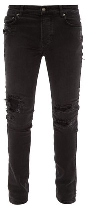 Ksubi Chitch Distressed Slim-leg Jeans - Black