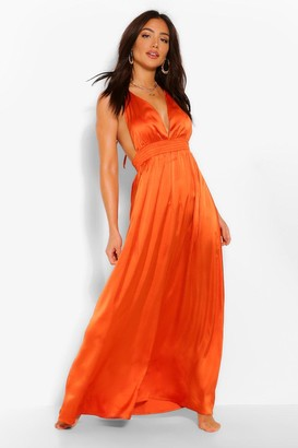 boohoo Plunge Beach Maxi Dress