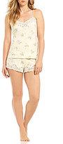 Lauren Ralph Lauren Lace-Trimmed Floral Pajamas