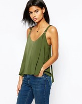 Asos Satin Cami Top with D Ring