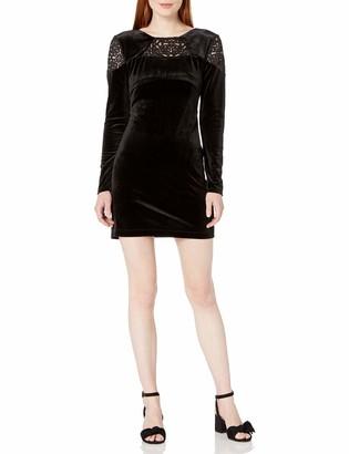 BCBGeneration Women's Long Sleeve Velvet Dress