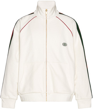 Gucci Track Jacket in Ivory & Green & Red | FWRD