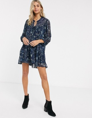 Free People Keeping Up With Cara smock dress-Black