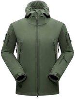 Sanke Men's Waterproof Hunting Lightweight Tactical Softshell Hooded Jacket