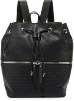 Neiman Marcus Honeycomb Bucket Backpack, Black