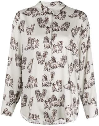 MSGM Kitten print shirt
