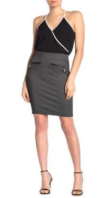 Liverpool Jeans Co Quinn Grid Ponte Pencil Skirt