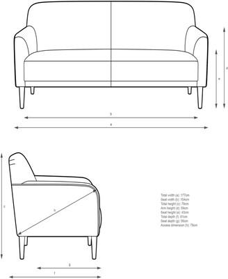 John Lewis & Partners Compact Medium 2 Seater Sofa