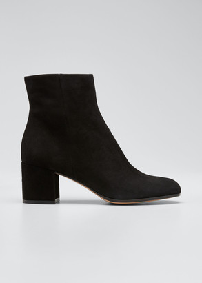 Gianvito Rossi Margaux Suede Block-Heel Ankle Boots
