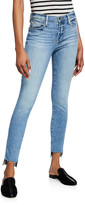 Frame Le High Skinny Jeans with Staggered Raw Hem